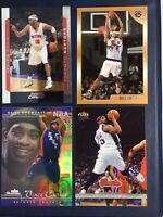 1998 1999 Topps Vince Carter #199 Rookie 4 Card Lot RC Inserts 2nd Year Fleer