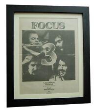 FOCUS3+III+Hocus+Sylvia+POSTER+AD+RARE ORIGINAL 1972+FRAMED+EXPRESS GLOBAL SHIP