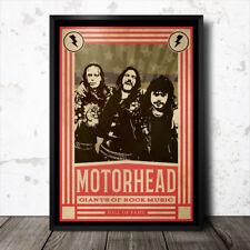 Motorhead Rock Music Art Poster Heavy Metal Black Sabbath Led Zeppelin