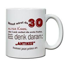 """Keramiktasse mit Spruch """"30. Geburtstag -Tasse 06"""" Kaffeebecher, Tasse, Teetasse"""