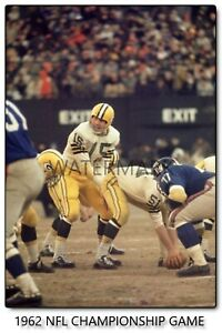 1962 NFL CHAMPIONSHIP GAME Bart Starr Vintage Photograph (comes in 4 sizes)
