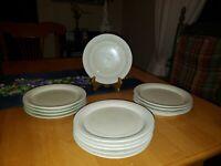 "Vintage Mid-Century Hornsea of England 6.5"" SWAN Dessert Plates, Set of 4"