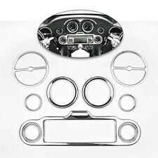 9Pcs Chrome Stereo Accent Speedometer Speaker Trim Ring For Harley Davidson96-13