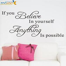 New Wall Sticker If You Believe In Yourself - Vinyl Art Decal - Inspiring Quote
