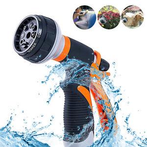 8 Funktionen Gartenbrause Handbrause Wasserspritze Schlauchbrause Sprühpistole