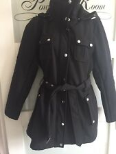 Fab New Black coat/jacket By Miss Sixty With Silver Buttons Size L