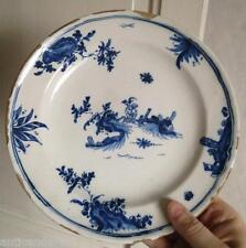 Belle assiette faience XVIIIeme chinois Sud HERAUD-LEROY Lyon ?