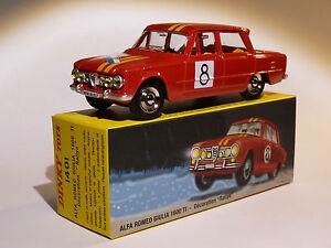 Alfa Roméo Giulia 1600 Ti Rallye - ref 1401 au 1/43 de dinky toys atlas