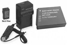 Battery + Charger for Samsung HMX-Q10UN/XAA HMX-Q10PN