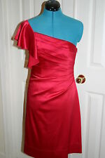 Phoebe Couture HOT FUCHSIA PINK Formal COCKTAIL DRESS Sz 6 Wedding, Bridesmaid