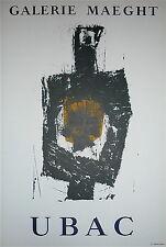 Raoul Ubac Affiche originale lithographie Art Abstrait Abstraction sculpture