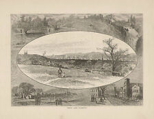 Troy New York Oakwood State St. Lumber District Vintage Decor Antique Art Print