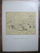stampa antica 1939 - LA PLATEA ARCHEOLOGICA SULLA VIA DEL MARE ROMA OSTIA