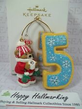 Hallmark 2011 Child My Fifth Christmas Ornament Age Bears Cookie Any Year