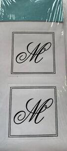 "M Seal Monogram Initial Sticker Gartner Studios 1"""