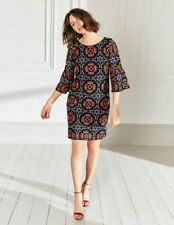 New BODEN ICONS GRETA DRESS - Navy Orange - Size 8 UK - 4 US - Rrp £300