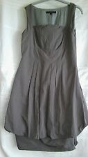 Coast beige Polycotton peplum dress size.8