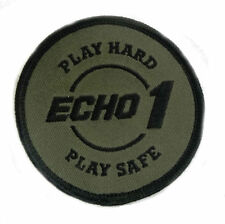 Echo 1 Airsoft Round Morale Patch Hook Back