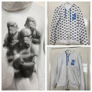 Mens Adidias Star Wars Storm Trooper Reversible Hoodie White Size Medium
