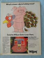 1990 Magazine Advertisement Page For Wilson Extra Lean Ham Pig Turkey Food Ad