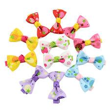 20pcs Cute Candy Color Mini Hair Clips Baby Girl Ribbon Bowknot Hairpin Headwear