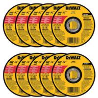 """(QTY 10) DEWALT DW8062 4-1/2"""" x .045 x 7/8"""" Metal Cut-Off Wheel"""