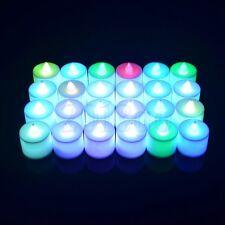 1PC bougies de lumière thé coloré LED réalistes bougies flamme batterie Faux HG