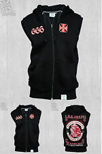 WEST COAST CHOPPERS CHAPEL 666 SLEEVELESS ZIP HOODY **BRAND NEW & IN STOCK**