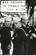 "1957 Sailors At Movie, Vintage Old Photo 4"" x 6"" Reprint"