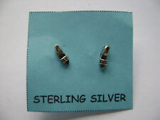 Sterling Silver Small Lady Shoes High Heels Stud Earrings New