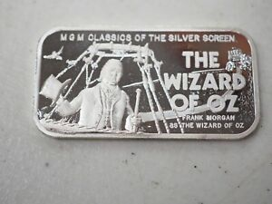 1974 Silver Mint Wizard of Oz The Wizard 20 g Silver Art Bar
