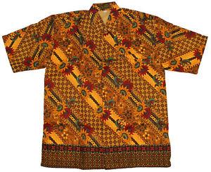 New Men Fashion Indonesian Batik Short Sleeve Shirt Size L & XL