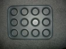 New 12 Cup Pan Muffin Cupcake Tray Non Stick Moulds Baking Trays Bake Tins