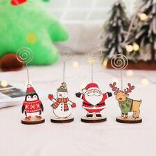 4Pcs/Set Christmas Snowman Photo Clip Memo Card Message Desk Notes Folder
