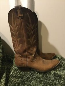 Nocona Camel Brown Leather Western Cowboy Boots 7.5 8