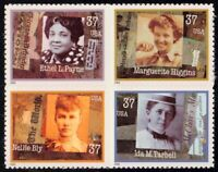 US #3668a MNH CV$5.00 2002 Women Journalists Bly Tarbell Payne Higgins