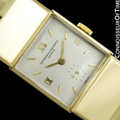 1965 VACHERON & CONSTANTIN Vintage Mens Unisex Cuff Bracelet Watch - 14K Gold