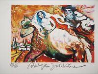 Raya SORKINE : La mariée à cheval - Lithographie signée et numérotée