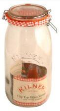 Kilner Clip Top Glass Food Storage Jar Canister Preserver 1.5 Litre - Round
