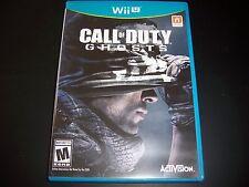 Replacement Case (NO GAME) Call of Duty Ghosts NINTENDO WII U 100% Original