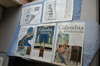 Lot of FIVE COLUMBIA GRAFONOLA Full-Page 1919-20 ADS ~ 78rpm Record Players