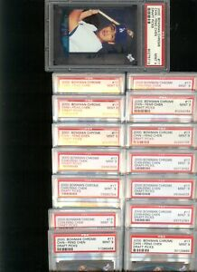 15 2000 Bowman Chrome Chin-Feng Chen ROOKIE PSA 9 MINT Los Angeles Dodger Taiwan