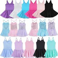 Girls Gymnastics Ballet Dress Toddler Kids Leotard Tutu Skirt Dancewear Clothes