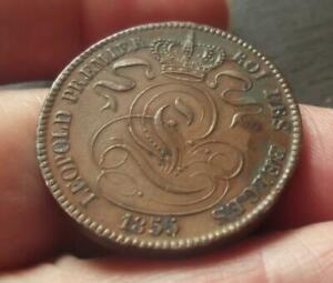 1855 BELGIUM 10 CENT COIN, VERY SCARCE   T36
