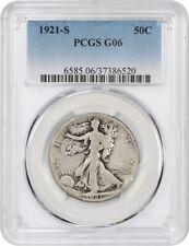 1921-S 50c PCGS Good-06 - Key Date - Walking Liberty Half Dollar - Key Date