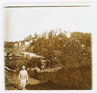 Francia Château A Identificare Foto Stereo Th5n Placca Da Lente Vintage 1925