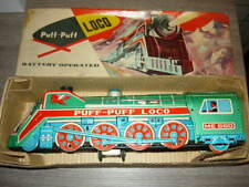 CHINA TIN TOYS ME 600 PUFF PUFF LOCO VINTAGE MINT BOX