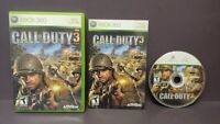 Call of Duty 3 COD 3 -  Microsoft Xbox 360 Complete 1 Owner Mint Disc Original