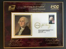New listing Us Stamps: Pcc of Ny Plaque for George Magazine w/ cover with George Washington