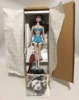 "Ashton Drake GENE Doll ""Simply Gene"" Blue Bathing Suit Brown Hair In Box COA"